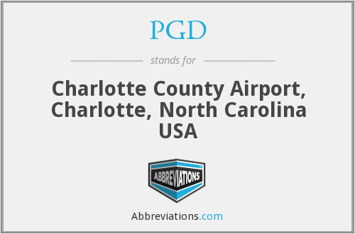 PGD - Charlotte County Airport, Charlotte, North Carolina USA