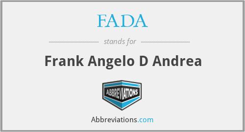 FADA - Frank Angelo D Andrea