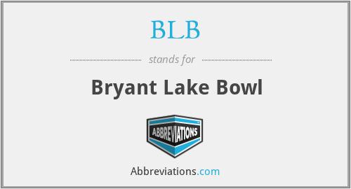 BLB - Bryant Lake Bowl