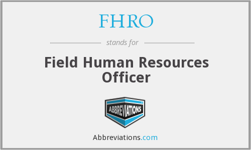 FHRO - Field Human Resources Officer