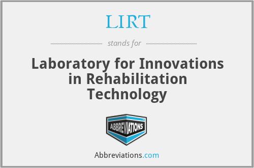 LIRT - Laboratory for Innovations in Rehabilitation Technology
