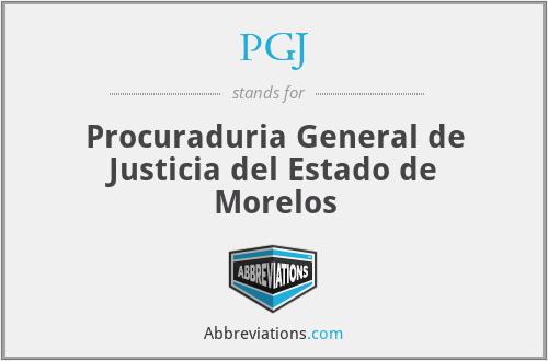 PGJ - Procuraduria General de Justicia del Estado de Morelos