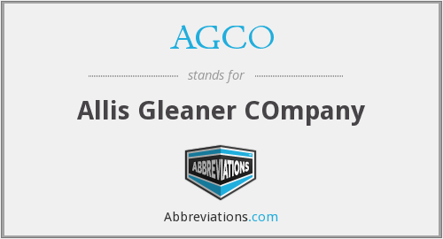 AGCO - Allis Gleaner COmpany