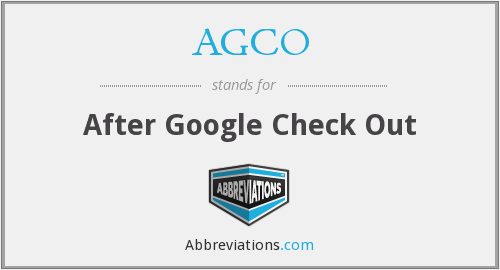 AGCO - After Google Check Out