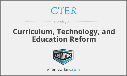 What does CTER stand for?