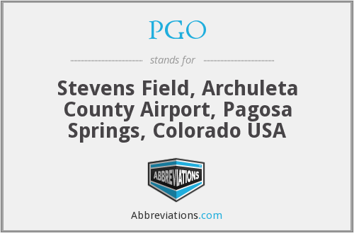 PGO - Stevens Field, Archuleta County Airport, Pagosa Springs, Colorado USA