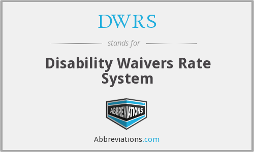 DWRS - Disability Waivers Rate System
