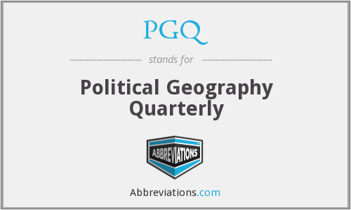 PGQ - Political Geography Quarterly