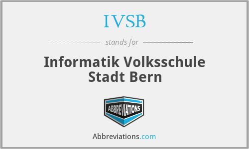 IVSB - Informatik Volksschule Stadt Bern
