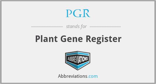 PGR - Plant Gene Register