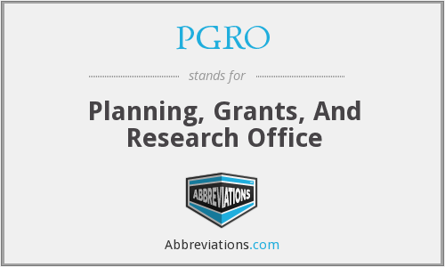 What does PGRO stand for?