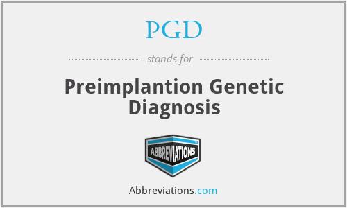 PGD - Preimplantion Genetic Diagnosis