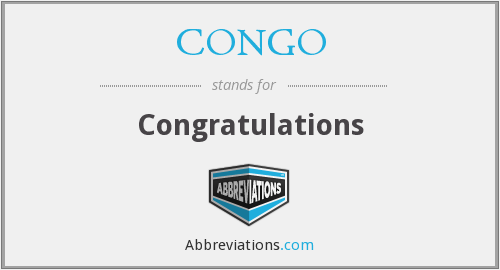 What does congratulations stand for?