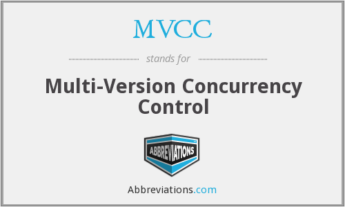 MVCC - Multi-Version Concurrency Control