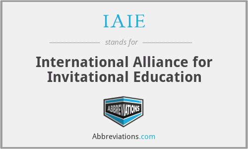 Iaie International Alliance For Invitational Education