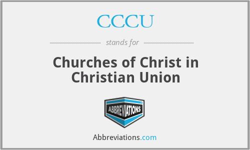 CCCU - Churches of Christ in Christian Union