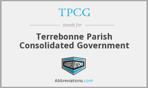 TPCG - Terrebonne Parish Consolidated Government