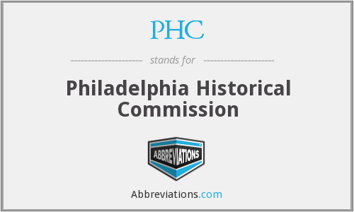PHC - Philadelphia Historical Commission