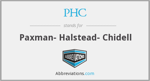 PHC - Paxman- Halstead- Chidell