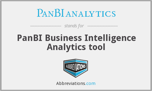 What does PANBIANALYTICS stand for?