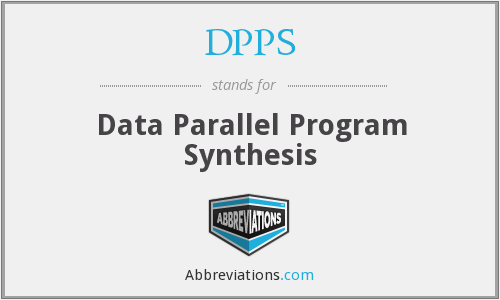 DPPS - Data Parallel Program Synthesis