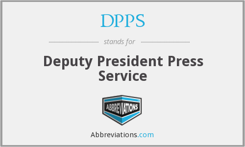 DPPS - Deputy President Press Service