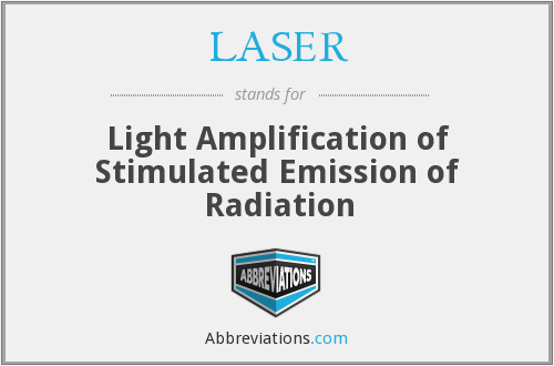 LASER - Light Amplification of Stimulated Emission of Radiation