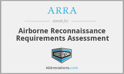 What does ARRA stand for?