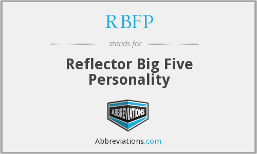 RBFP - Reflector Big Five Personality