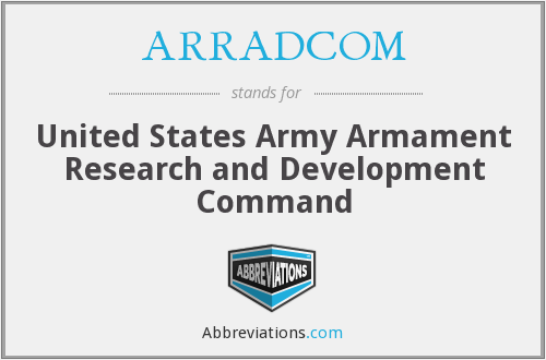 What does ARRADCOM stand for?