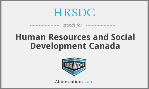 HRSDC - Human Resources and Social Development Canada