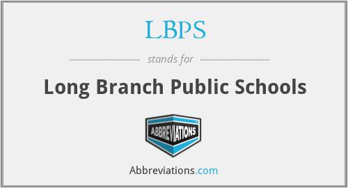 LBPS - Long Branch Public Schools