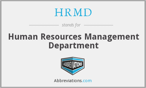 What does HRMD stand for?