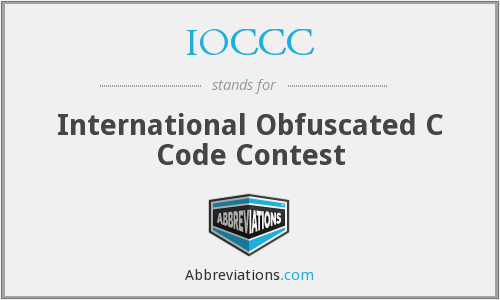 What does IOCCC stand for?