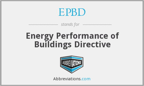 What does EPBD stand for?