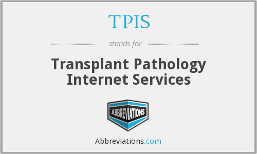 TPIS - Transplant Pathology Internet Services