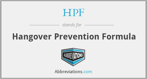 HPF - Hangover Prevention Formula