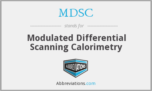 MDSC - Modulated Differential Scanning Calorimetry