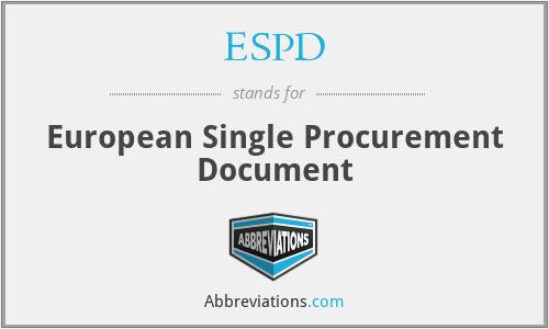 ESPD - European Single Procurement Document