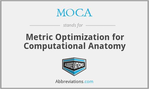 MOCA - Metric Optimization for Computational Anatomy