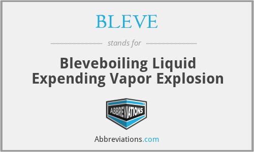 BLEVE - Bleveboiling Liquid Expending Vapor Explosion