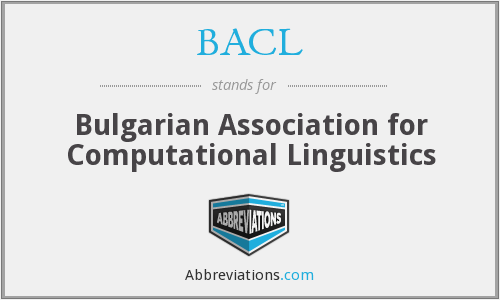 BACL - Bulgarian Association for Computational Linguistics
