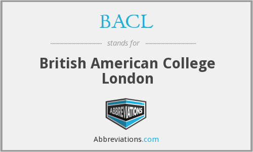 BACL - British American College London