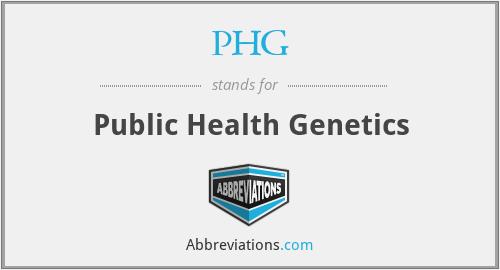 PHG - Public Health Genetics
