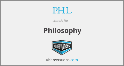 PHL - Philosophy