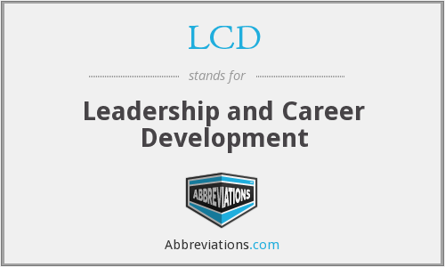 LCD - Leadership and Career Development