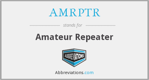 What does AMRPTR stand for?