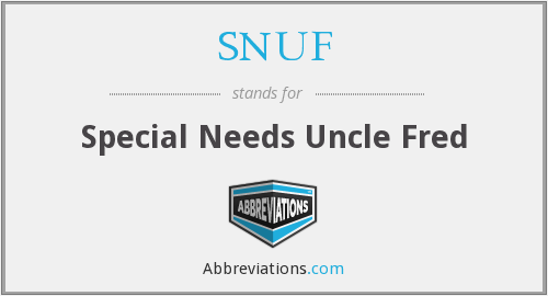 What does SNUF stand for?