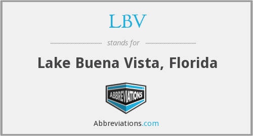 LBV - Lake Buena Vista, Florida