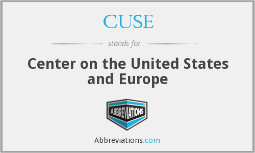 CUSE - Center on the United States and Europe